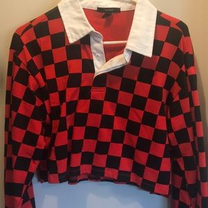 Forever 21 Checkered Crop Top
